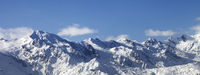 Winter mountains at nice sunny day. Caucasus Mountains.