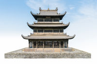 chinese traditional pavilion isolated