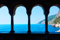 Columns of Church of St. Peter in Porto Venere