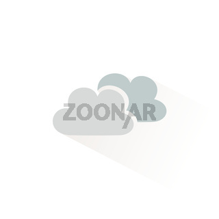 Clouds icon with shadow. Flat vector illustration