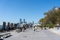Battery Park Waterfront in Manhattan, NYC