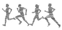 Running people doing sports