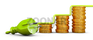European  plug and  coins