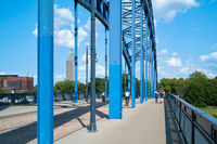 Star bridge over the river Elbe in Magdeburg