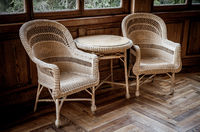 Old wicker chairs