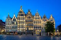 Grote Markt of Antwerp at night in Antwerp, Belgium