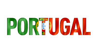 portugal flag text font