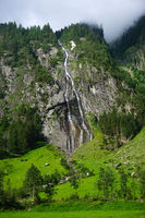 waterfall in the Zillertaler alps, austria