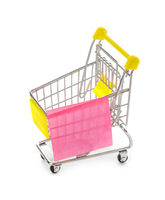 Note paper on shopping cart