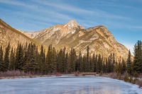 Mount Lorrete in Kananaskis in the Canadian Rocky Mountains, Alberta, Canada