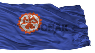 Suita City Flag, Japan, Osaka Prefecture, Isolated On White Background