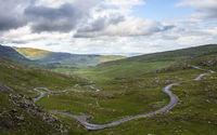 Mountain street at healy pass on Beara ring in Ireland