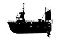 Fishing ship silhouette