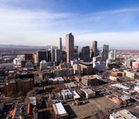 One Can Almost Feel the Cold in this Aerial Perspective Denver Colorado