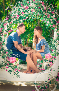 Outdoor portrait of a beautiful couple