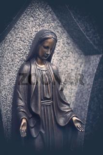 portrait of a bronze maria tomb sculpture