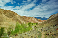 Red mountains in Kyzyl-Chin valley