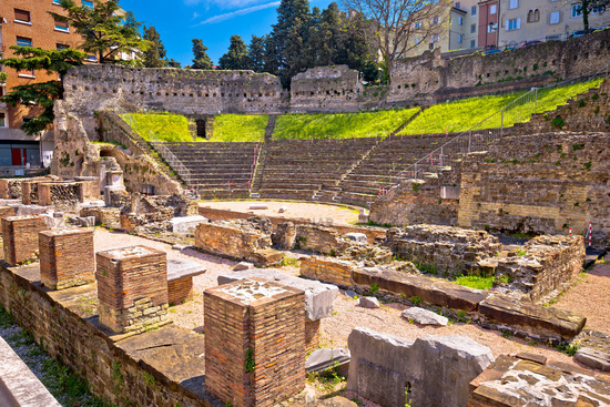 Historic Roman Theatre of Trieste ruins view