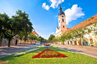 Town of Sombor square and architecture view