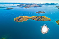 Amazing Kornati Islands national park archipelago aerial view