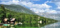Lake Bohinj in Triglav National Park,Slovenia