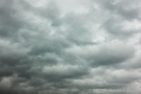 Gray sky with heavy clouds