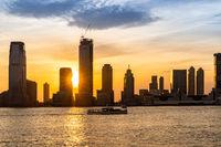 New Jersey Skyline sunset