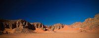 Abstract Rock formation at Tamezguida in Tassili nAjjer national park, Algeria