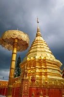 Wat Doi Suthep golden stupa, Chiang Mai, Thailand