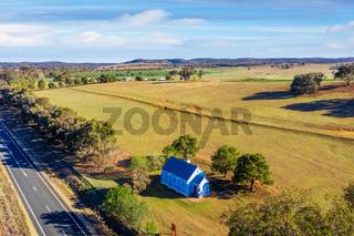 Little Blue Church in rural Australia