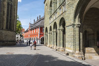 St. Patrokli cathedral, city hall, Soest, Germany, Europe
