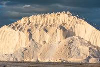 pure salt hill in the evening sun