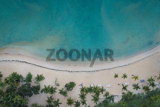 Aerial view of Samana beach