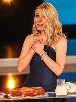 Moderatorin Stefanie Hertel bei der Aufzeichung der Muttertagsshow am 08.05.2018 ind Altenburg
