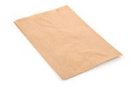 Folded kraft paper bag
