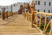 arabic wooden bridge