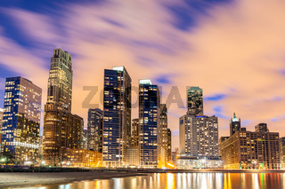 Chicago Skylines at night.