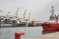 Port facilities in Koper