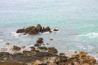 very rough coast at Cornwall Great Britain England