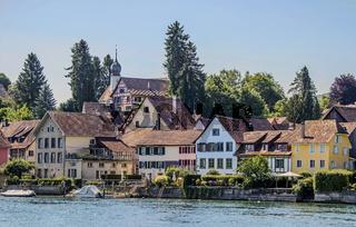 Stein am Rhein mit reformierter Kirche Burg, Schweiz