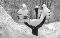Winter in the Vogtland - The signpost