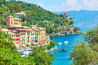 Portofino town on the Italian riviera