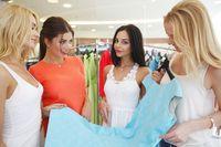 Girls choosing dress