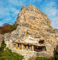 Basarbovo, Bulgaria - November 11, 2017. The rock monastery