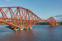 The Forth Rail Bridge, Scotland, connecting South Queensferry (Edinburgh) with North Queensferry