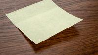 A sticky note with copy space