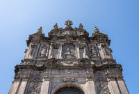 Entrance to church of Torres dos Clerigos in Porto