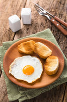 Fried Egg with Toasted Bread