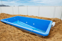 Swimming pool under construction.