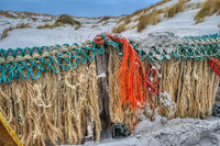 AMRUM, GERMANY - DECEMBER 28, 2018: On the Kniepsand Beach of  the North Frisian Island Amrum in Ger